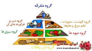 هرم غذایی پنج گروه