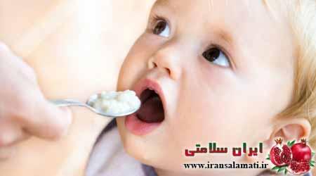 مقوی کردن غذای کودک - baby feeding